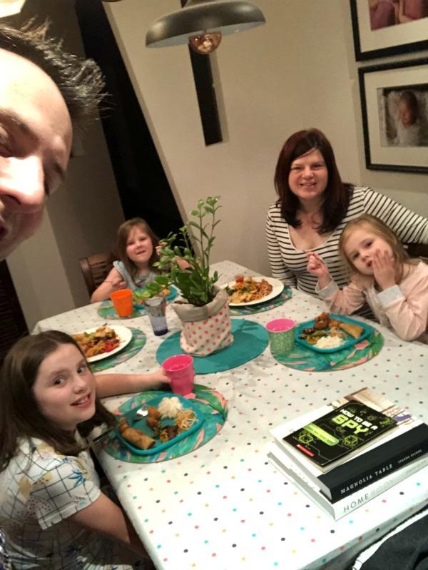 family dinner The Plumbette