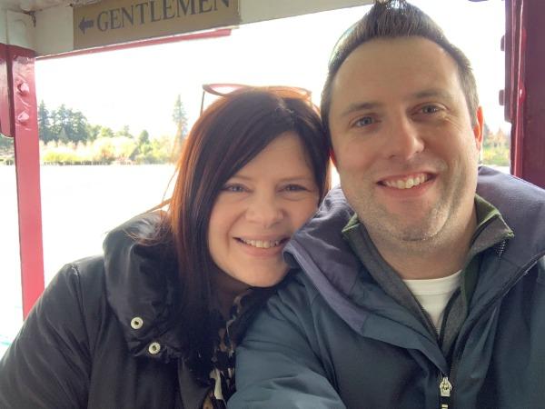 Couple selfie on the TSS Earnslaw