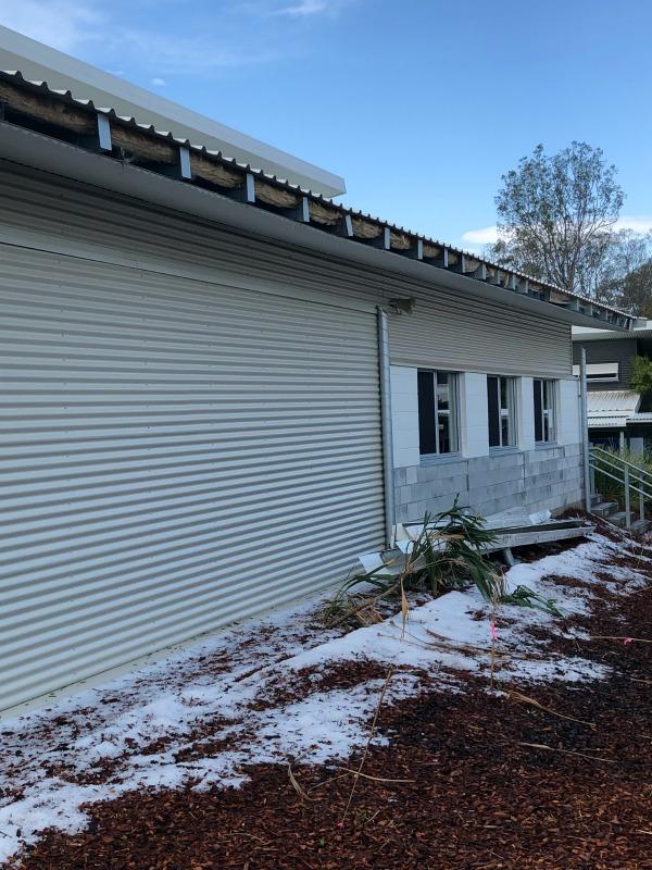 gutter damage from hail