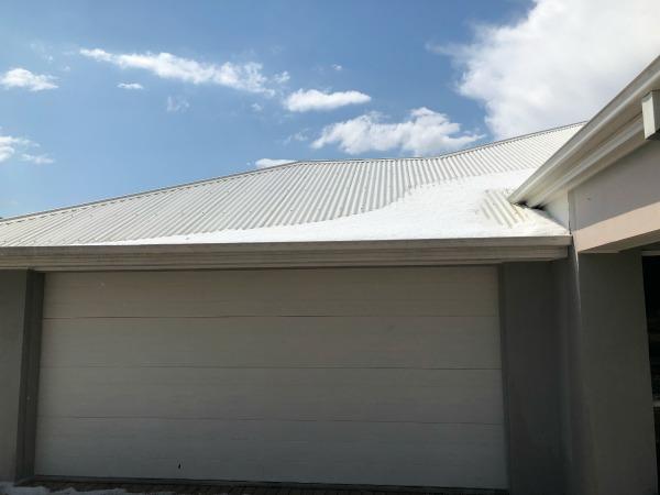 hail on colourbond roof