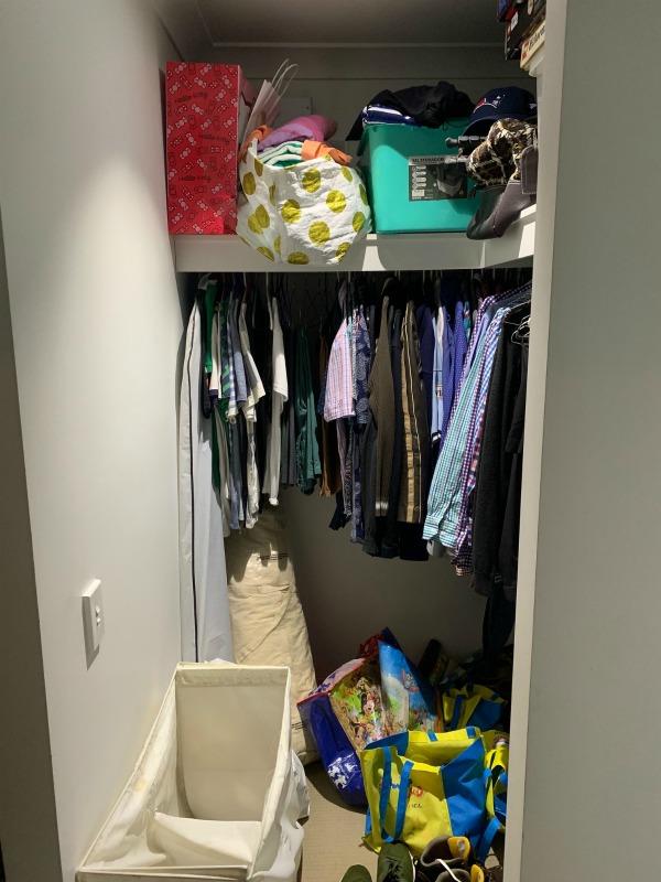 walk-in wardrobe before