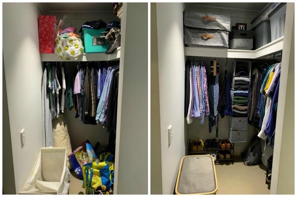 organising a walk-in wardrobe