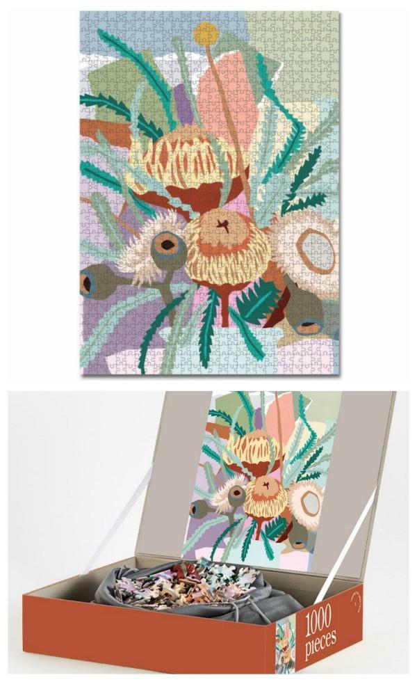 Floral puzzle design