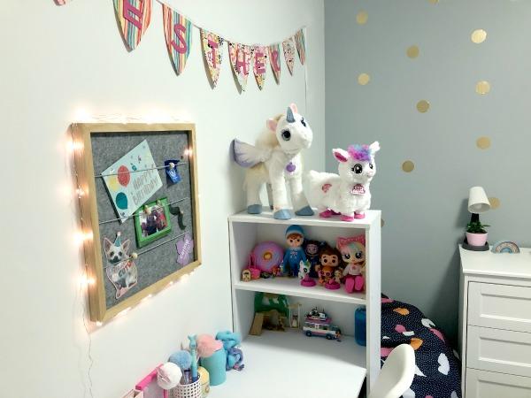 tween girl bedroom update fairy lights