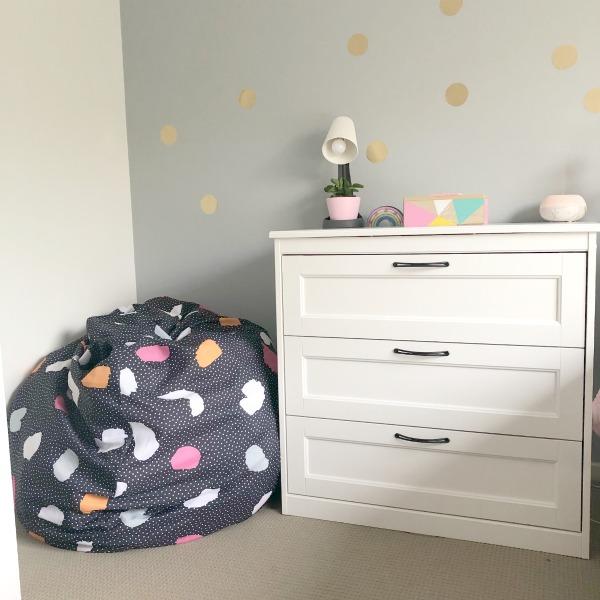 soft toys in bean bag Tween bedroom update