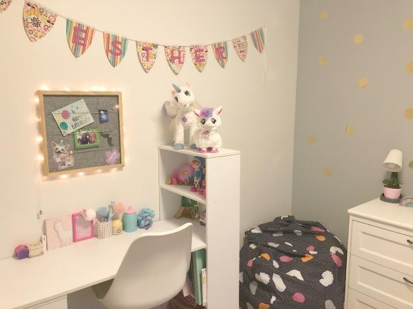 tween girl bedroom update