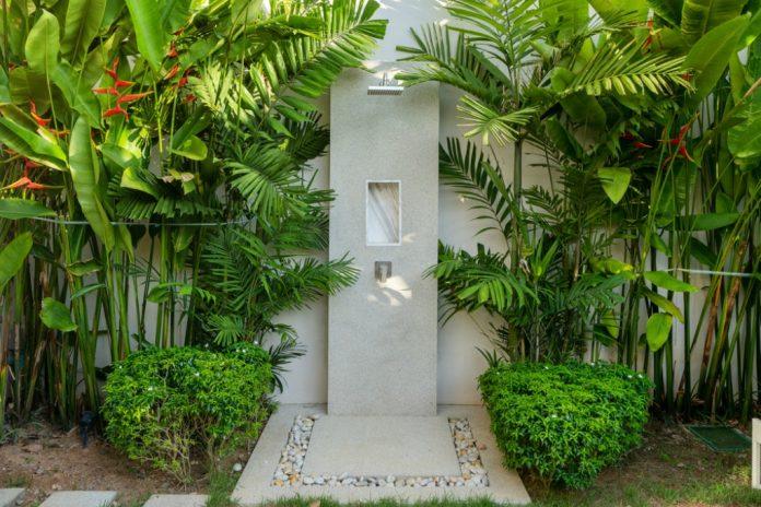 installing an outdoor shower
