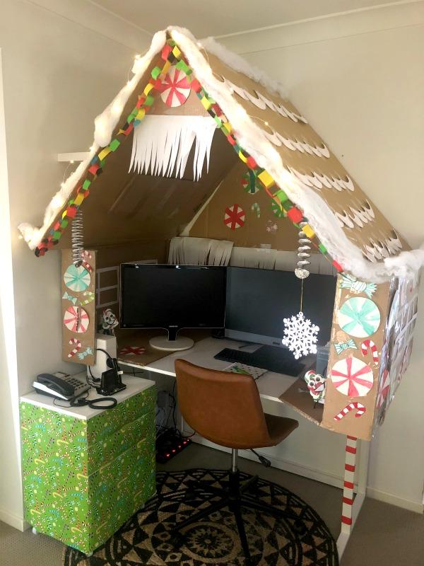 gingerbread house desk the plumbette