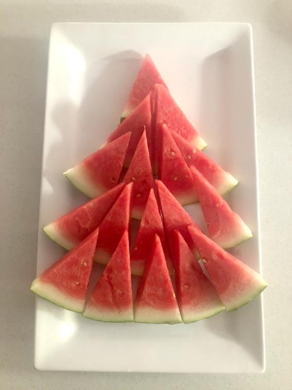 watermelon Christmas tree fruit platter