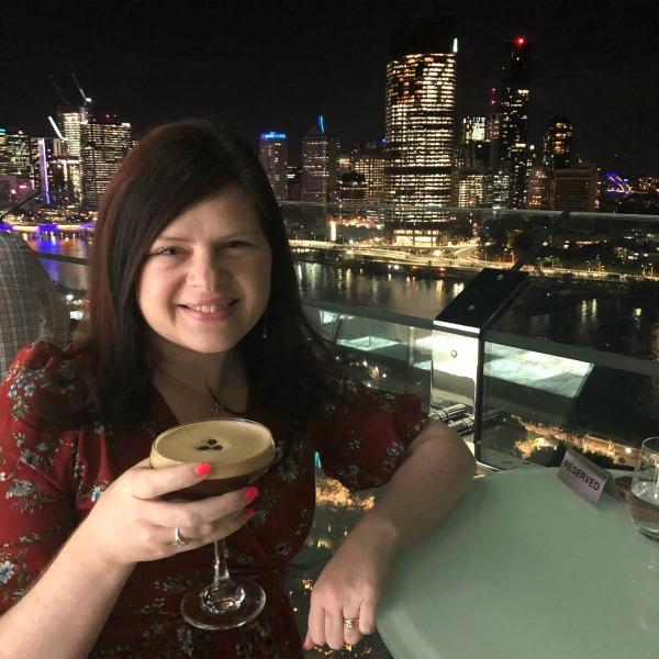 Emporium Southbank Rooftop Bar Drinking espresso Martini