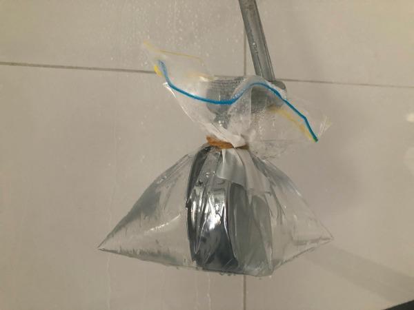 vinegar hack for shower head