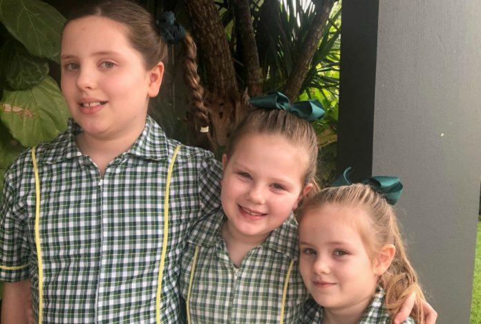 three in school