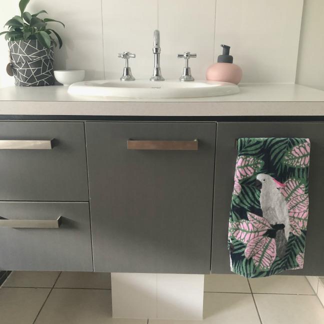 cockatoo hand towel kmart
