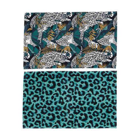 Kmart Safari colourful print hand towels