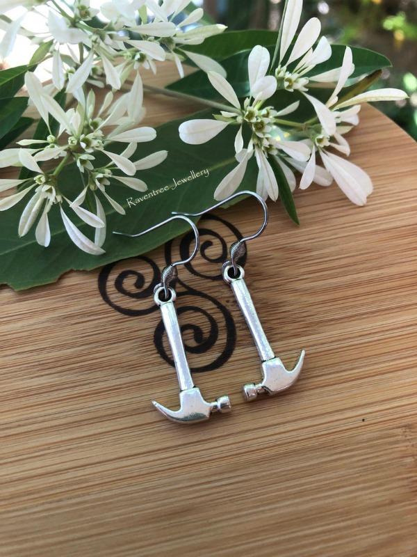 hammer earrings tradie earrings