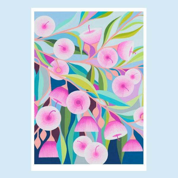 Claire Ishino Pink Gum Print