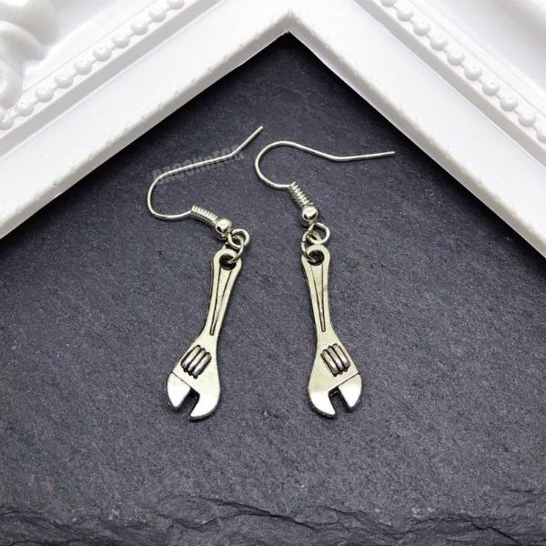 tradie tool earrings spanner earrings