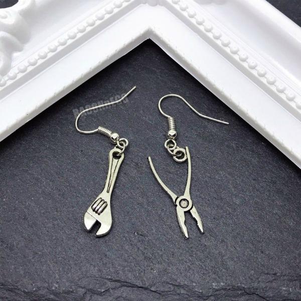 spanner and plier earrings