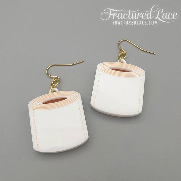 toilet paper earrings