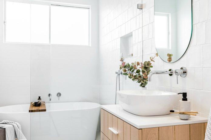 Modern coastal bathroom design