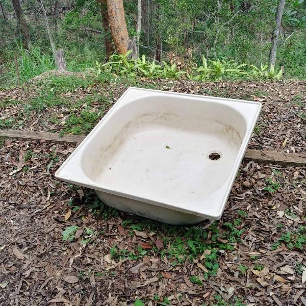 old shower bath base