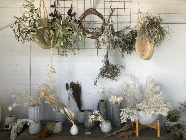 dried flower bar