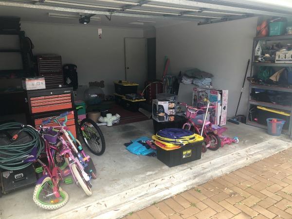 decluttering a garage