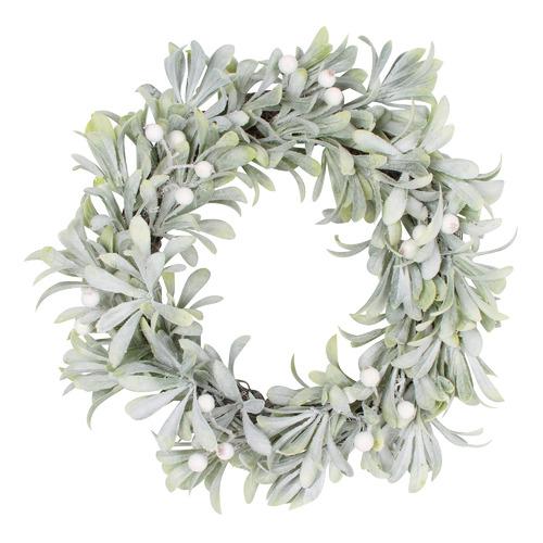 Temples and Markets Mistletoe Christmas Wreath