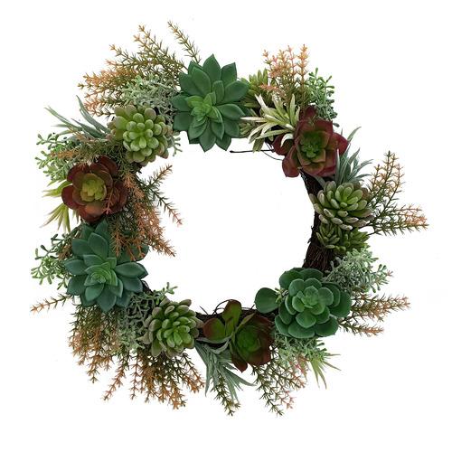 Succulent Artificial Christmas Wreath