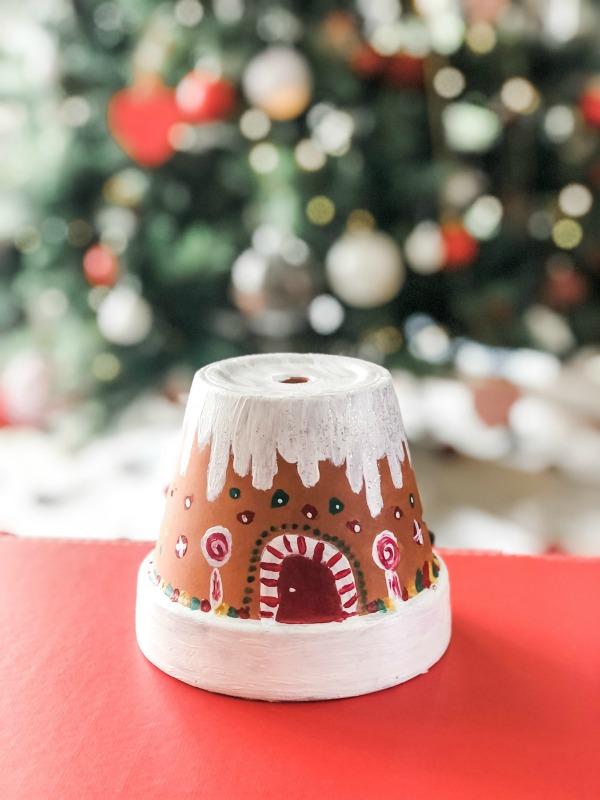 terracotta pot gingerbread house