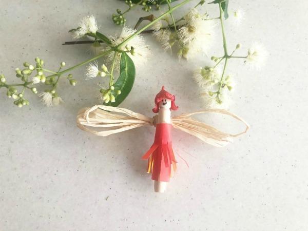 Christmas angel petal baby decoration
