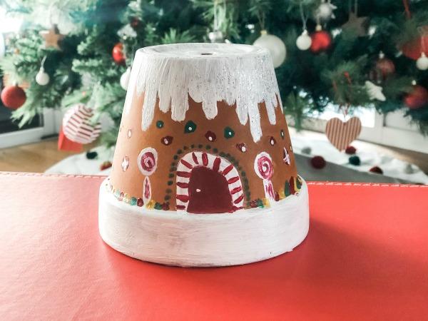Gingerbread House Terracotta Pot