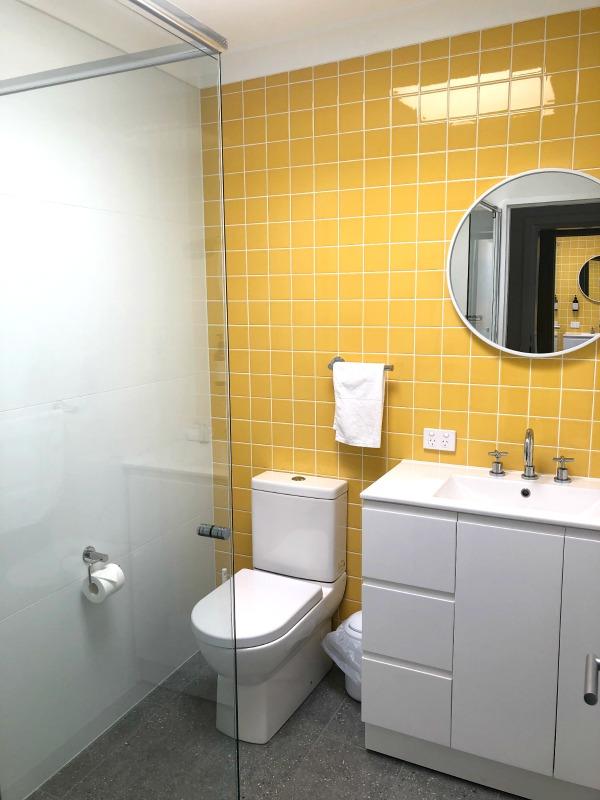 Yellow Bathroom at The Cubana