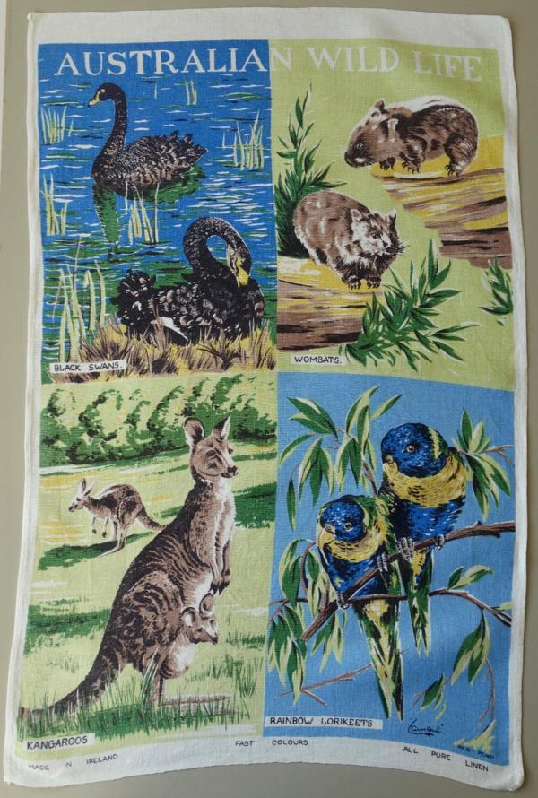 Vintage Australian Tea Towel
