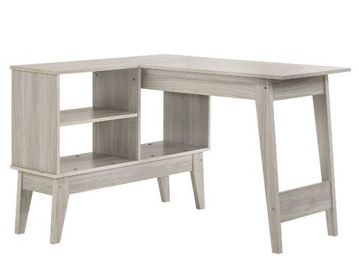 Corner wood desk for kids room