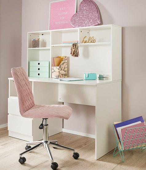 Como desk with hutch for kids bedroom