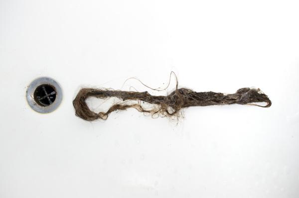 hair blockage in bath waste