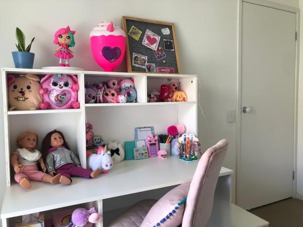 Hutch of kids desk with storage