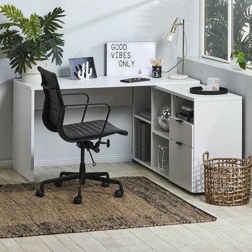 Corner kids desk with storage