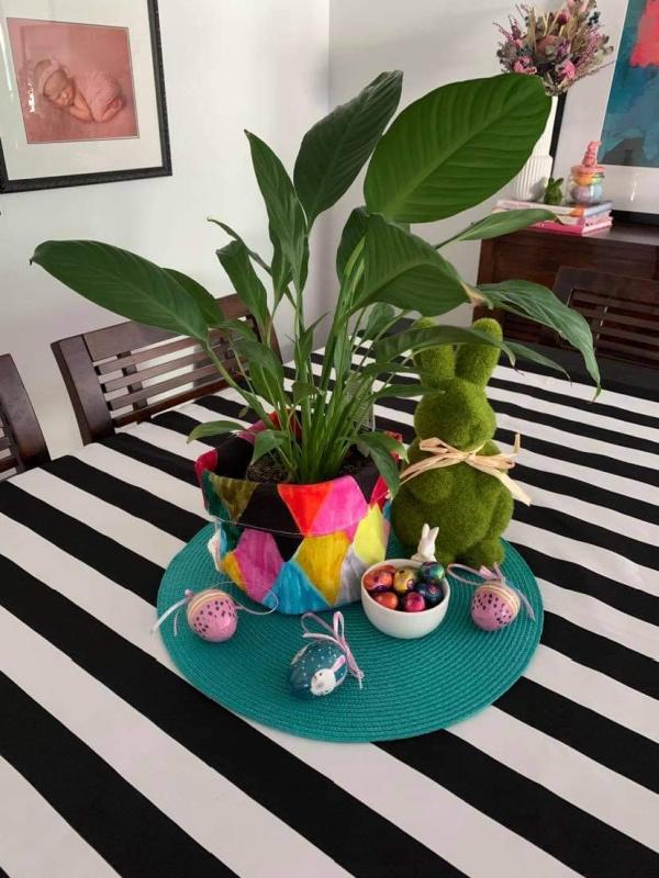 Easter table vignette