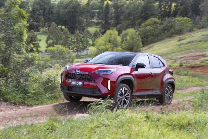 Ken Mills Toyota Red Yaris Cross runabout family car