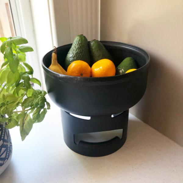 matte black gas bowl in my kitchen